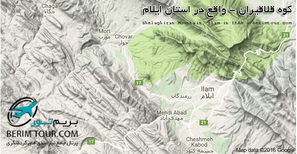 نقشه کوه قلاقیران